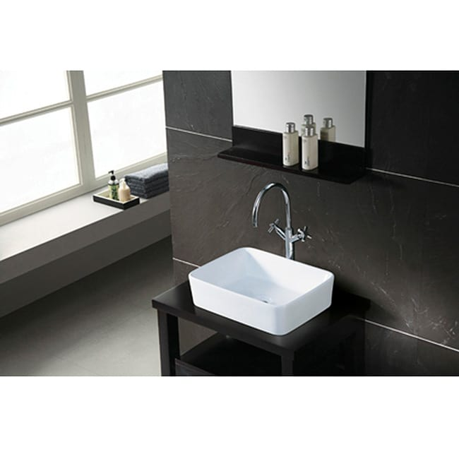 Charmant Shop French Petite White Vessel Sink   Free Shipping Today   Overstock.com    2579956