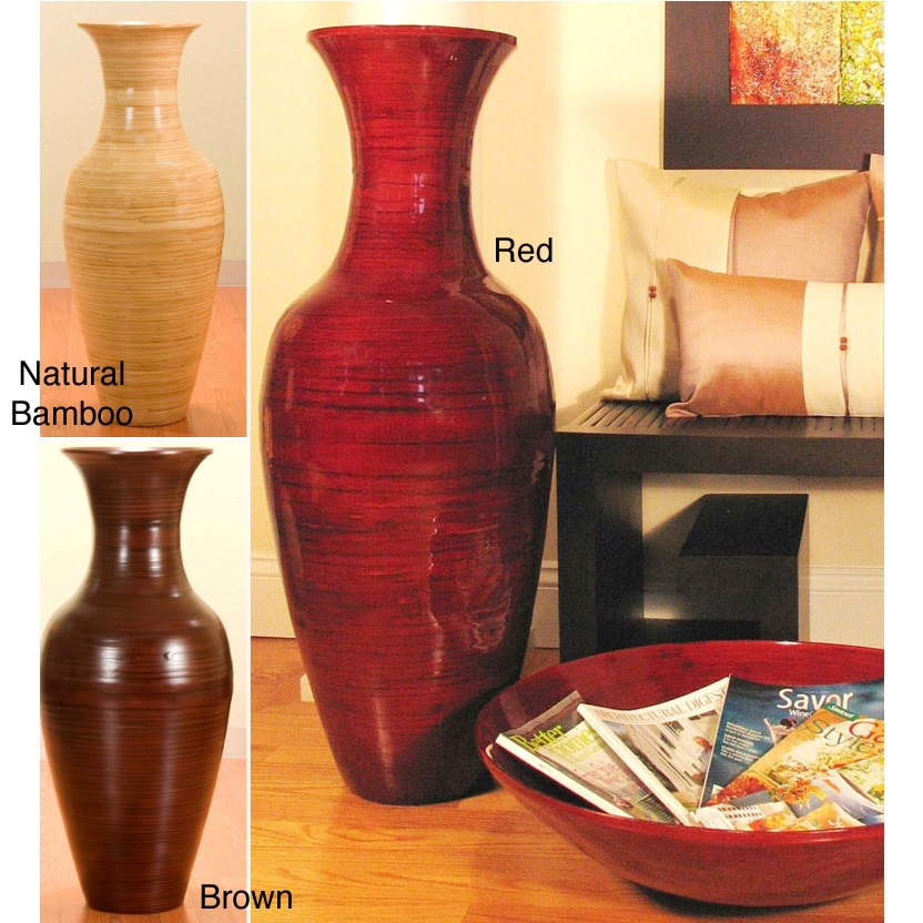 Shop 36 Inch Bamboo Tall Floor Vase Free Shipping Today