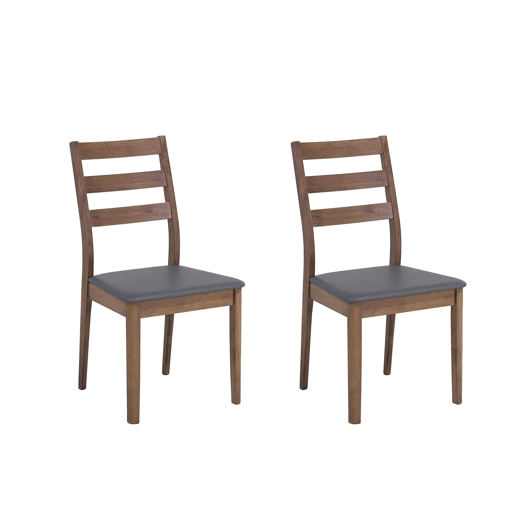 Set of 2 dining chairs rubberwood modesto
