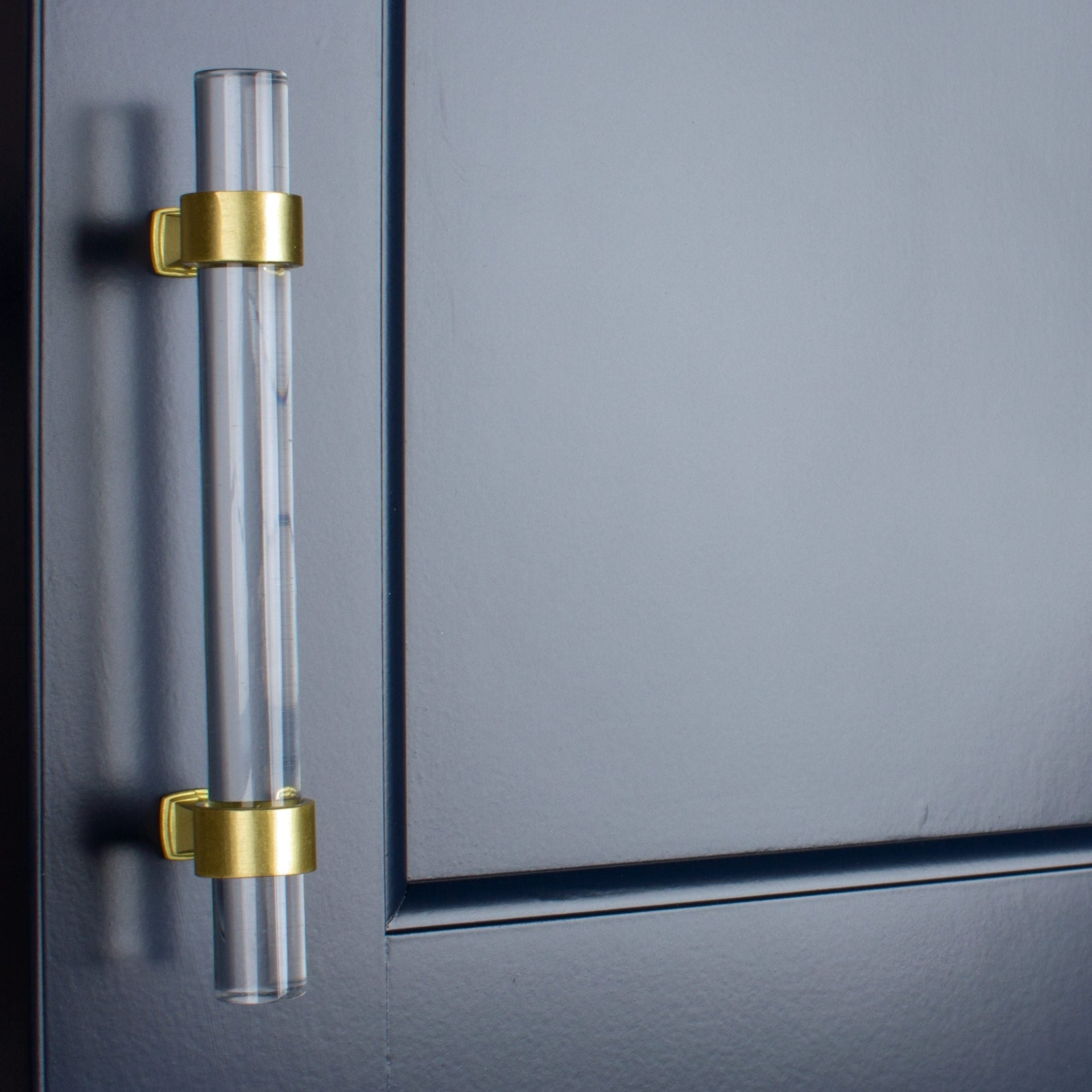 Charmant Shop GlideRite 3.75 Inch Clear Acrylic Cabinet Pulls Satin Gold (Set Of 10)    Free Shipping Today   Overstock   25859577