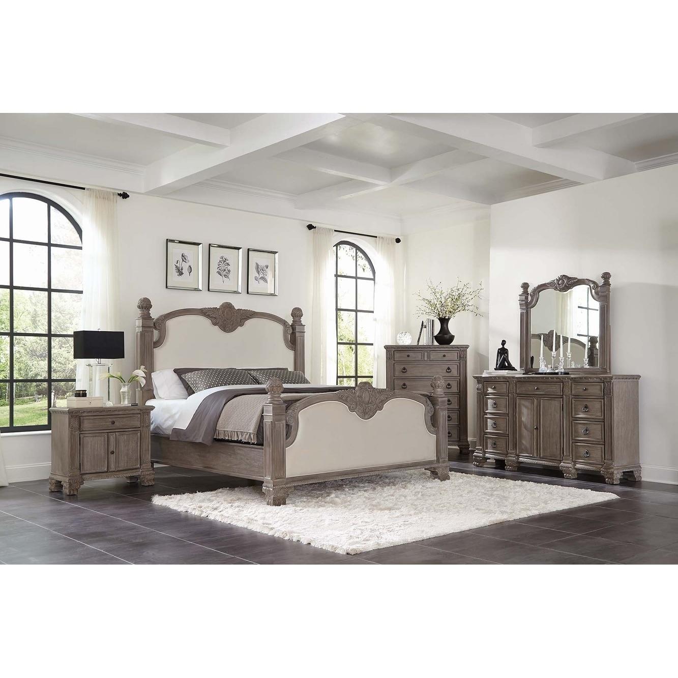 Shop Carbon Loft Chambliss Vintage Grey 5-piece Upholstered Bedroom ...