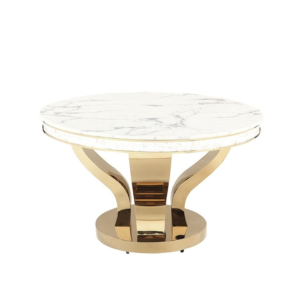 Round pedestal dining table Counter Height Kendall Gold Round Pedestal Dining Table Greywhite Overstock Shop Kendall Gold Round Pedestal Dining Table Greywhite On Sale