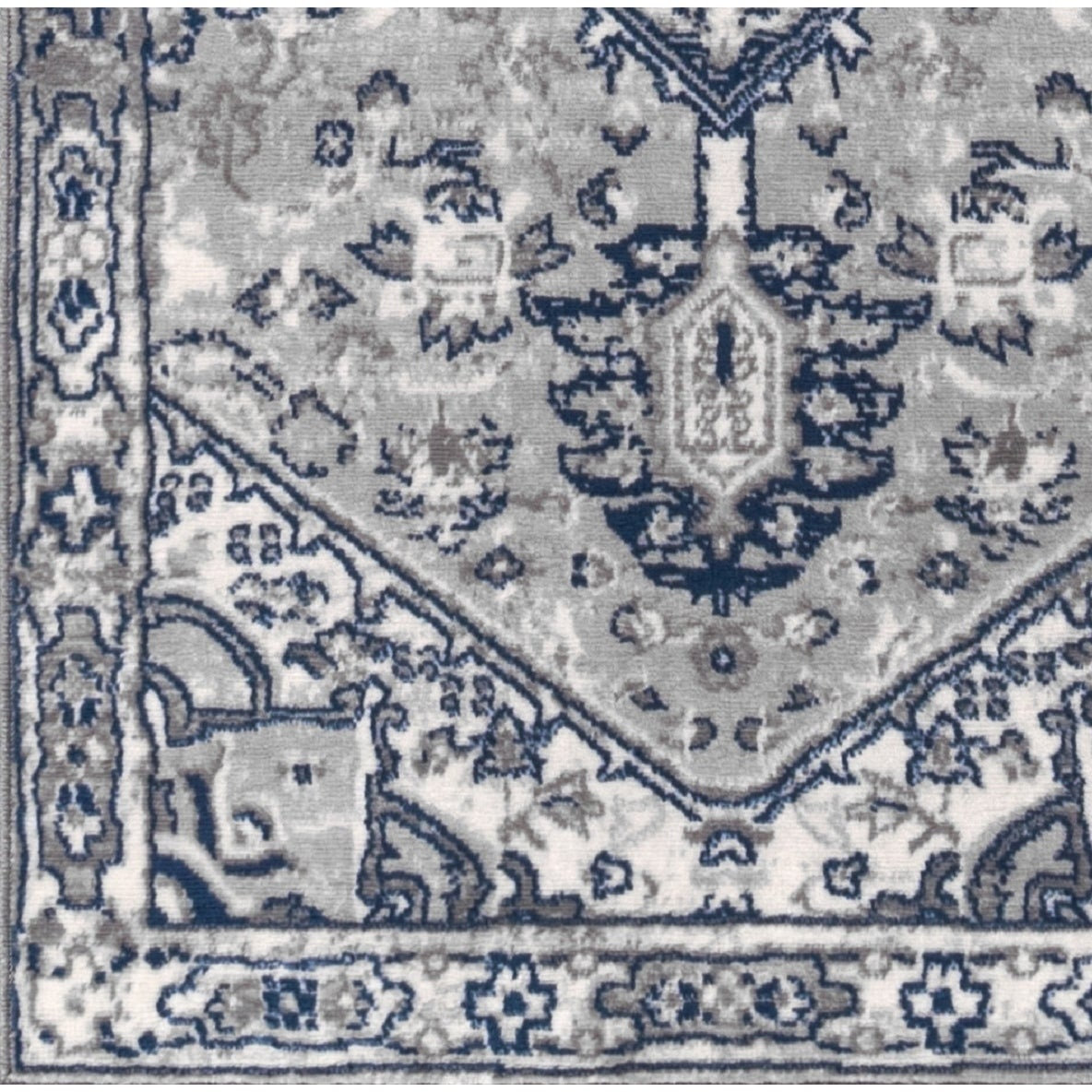 598375c4 Shop Copper Grove Konispal Modern Persian Vintage Medallion Light Grey/Navy  Distressed Area Rug - Free Shipping On Orders Over $45 - Overstock -  25896032