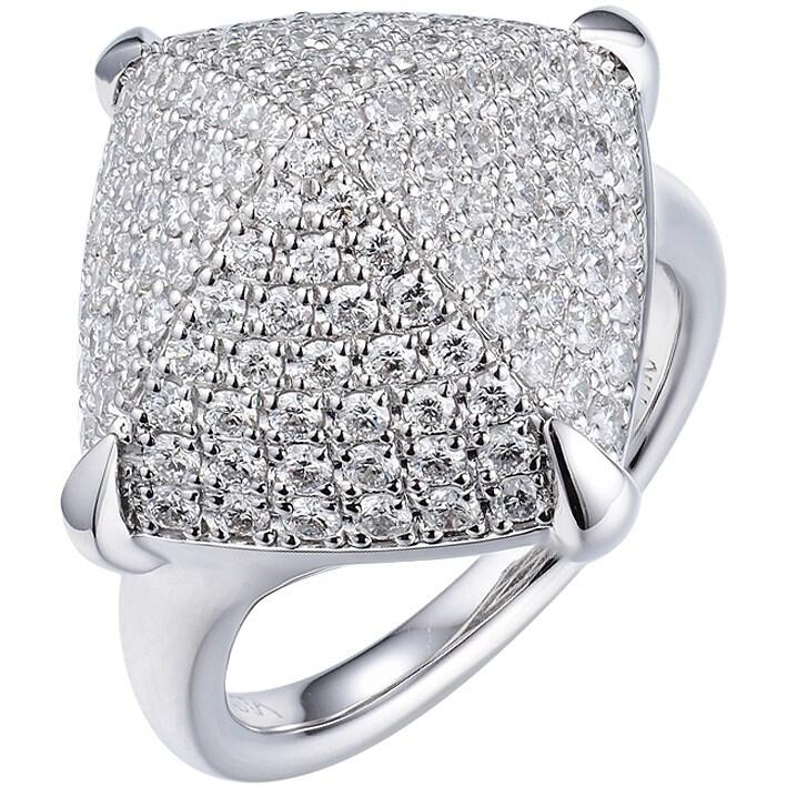 f060f02fb1809 Shop 14K White Gold Diamond Pyramid Ring - On Sale - Free Shipping ...