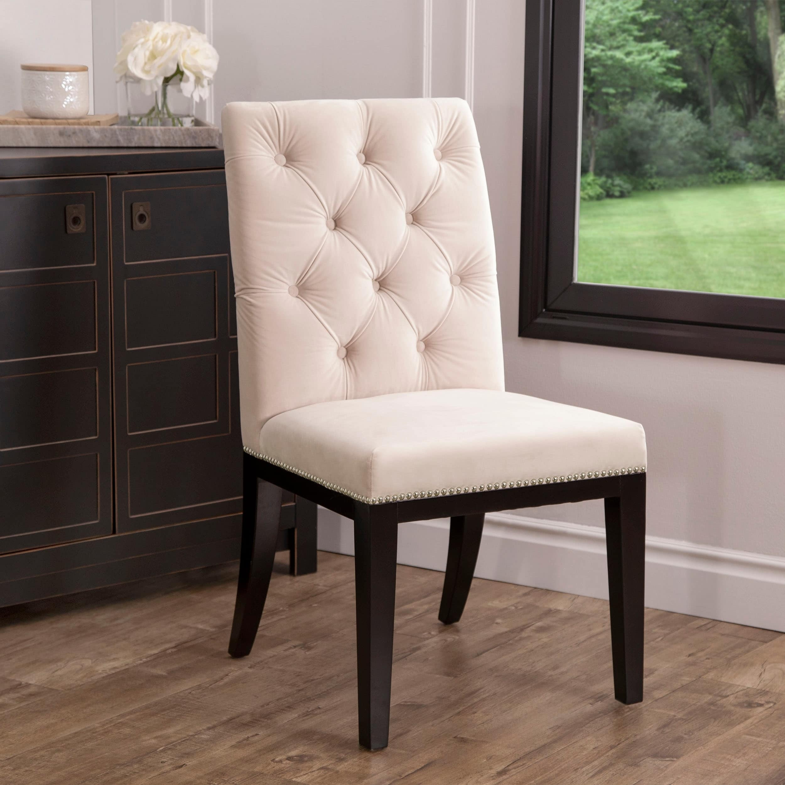 4abaf2923e6 Shop Abbyson Bordeaux Tufted Dining Chair - On Sale - Free Shipping Today -  Overstock - 25993401