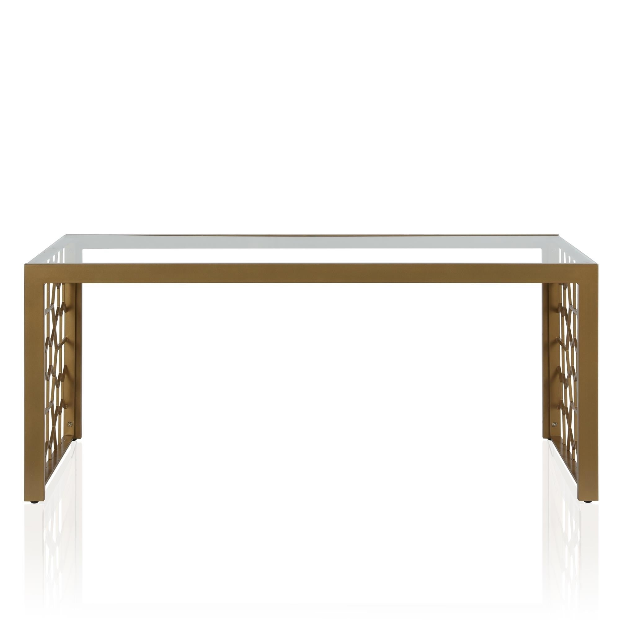 Shop CosmoLiving By Cosmopolitan Juliette Soft Brass Glass Top Coffee Table    Free Shipping Today   Overstock   26057083