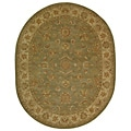 Safavieh Handmade Antiquities Gem Green Wool Rug (7'6 x 9'6 Oval)