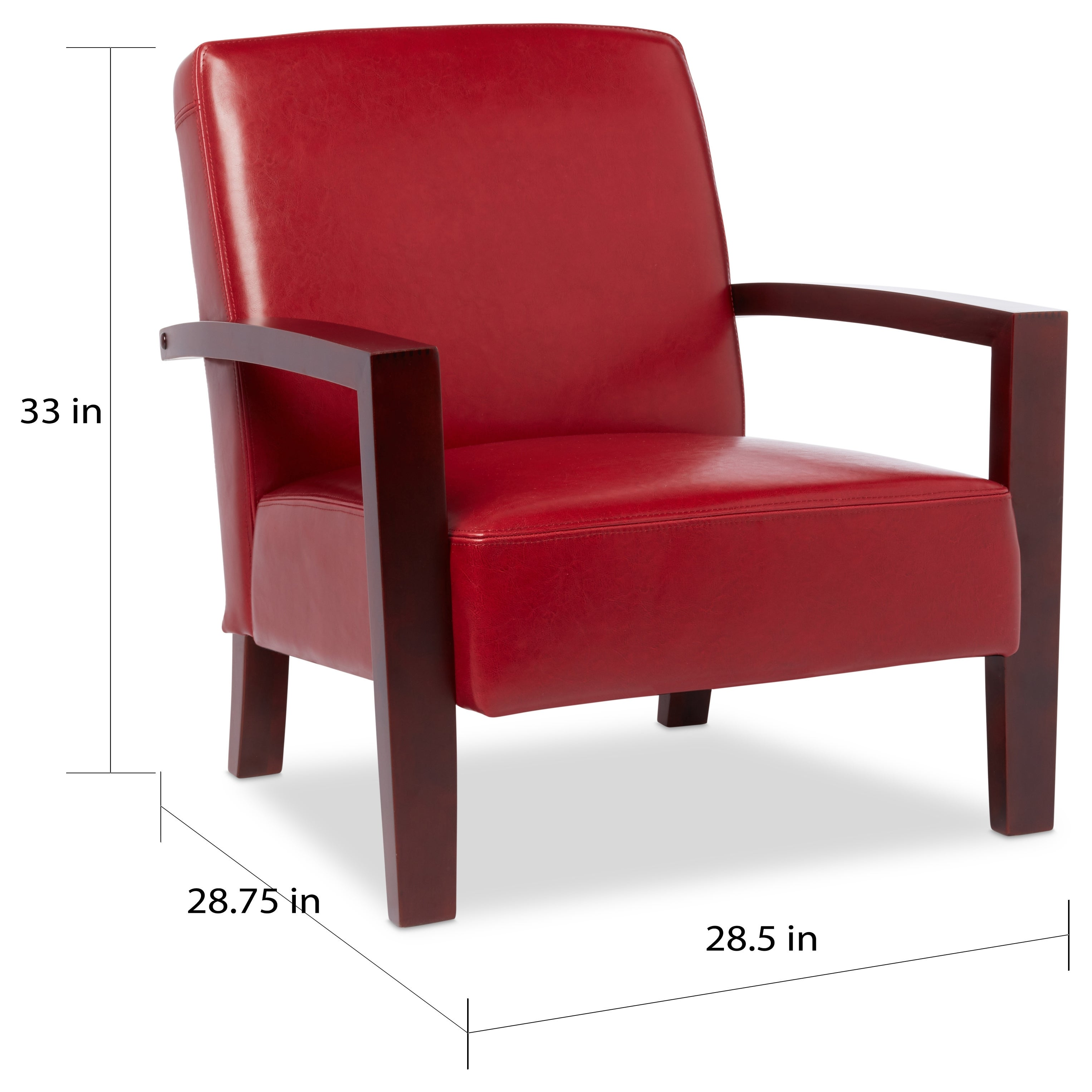 Shop Porch U0026 Den Roadster Burnt Red Leather Lounge Chair   Free Shipping  Today   Overstock   2616449