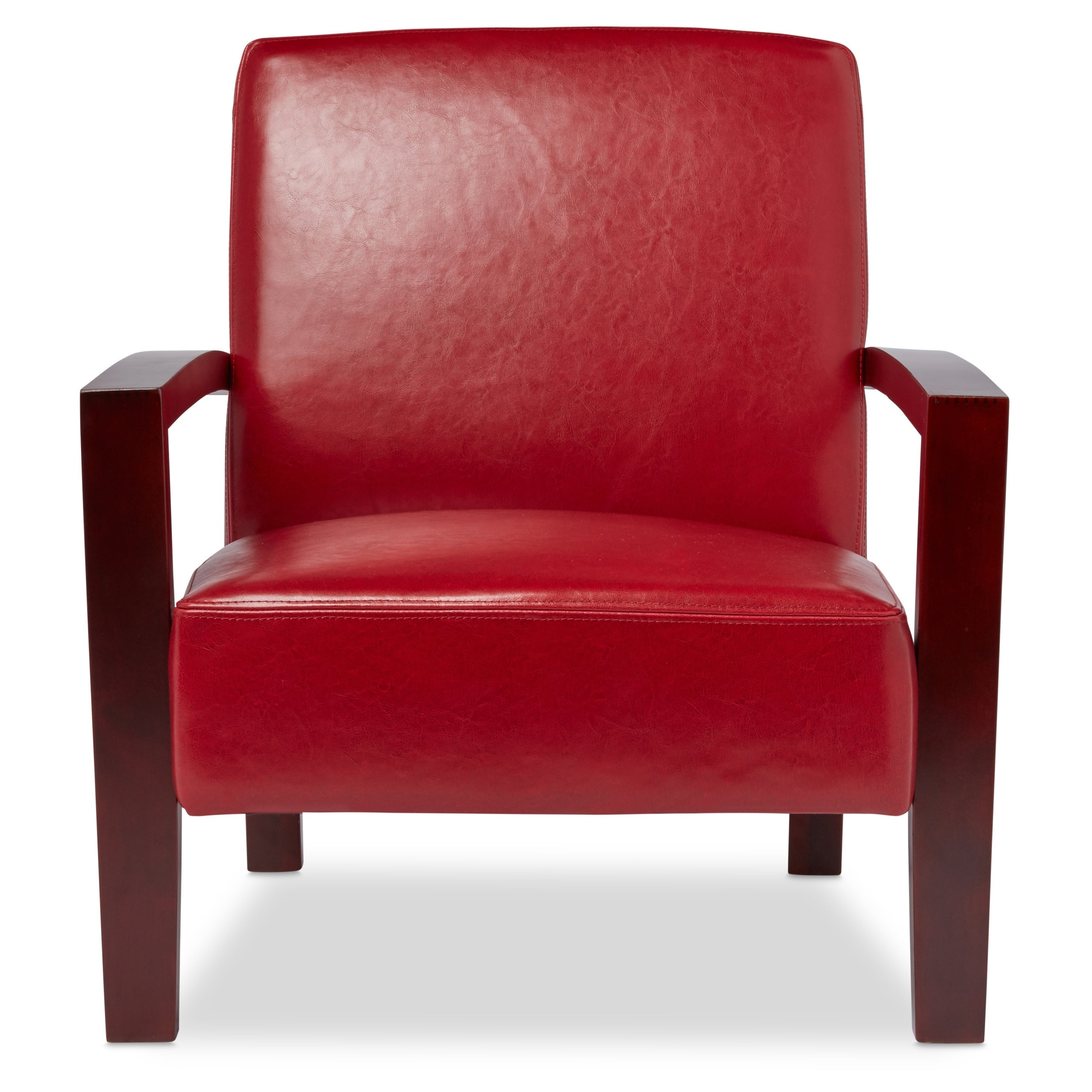 Shop Clay Alder Home Roadster Burnt Red Leather Lounge Chair   On Sale    Free Shipping Today   Overstock.com   2616449