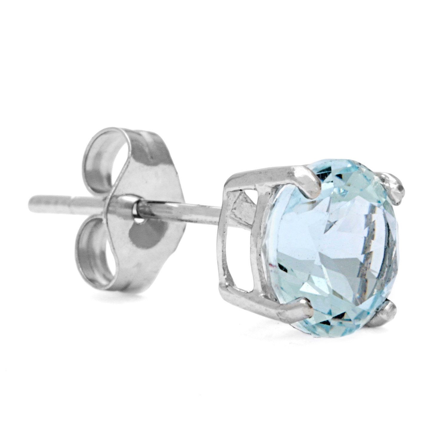 Kabella 14k White Gold Round Aquamarine Earrings On Free Shipping Today 2616588
