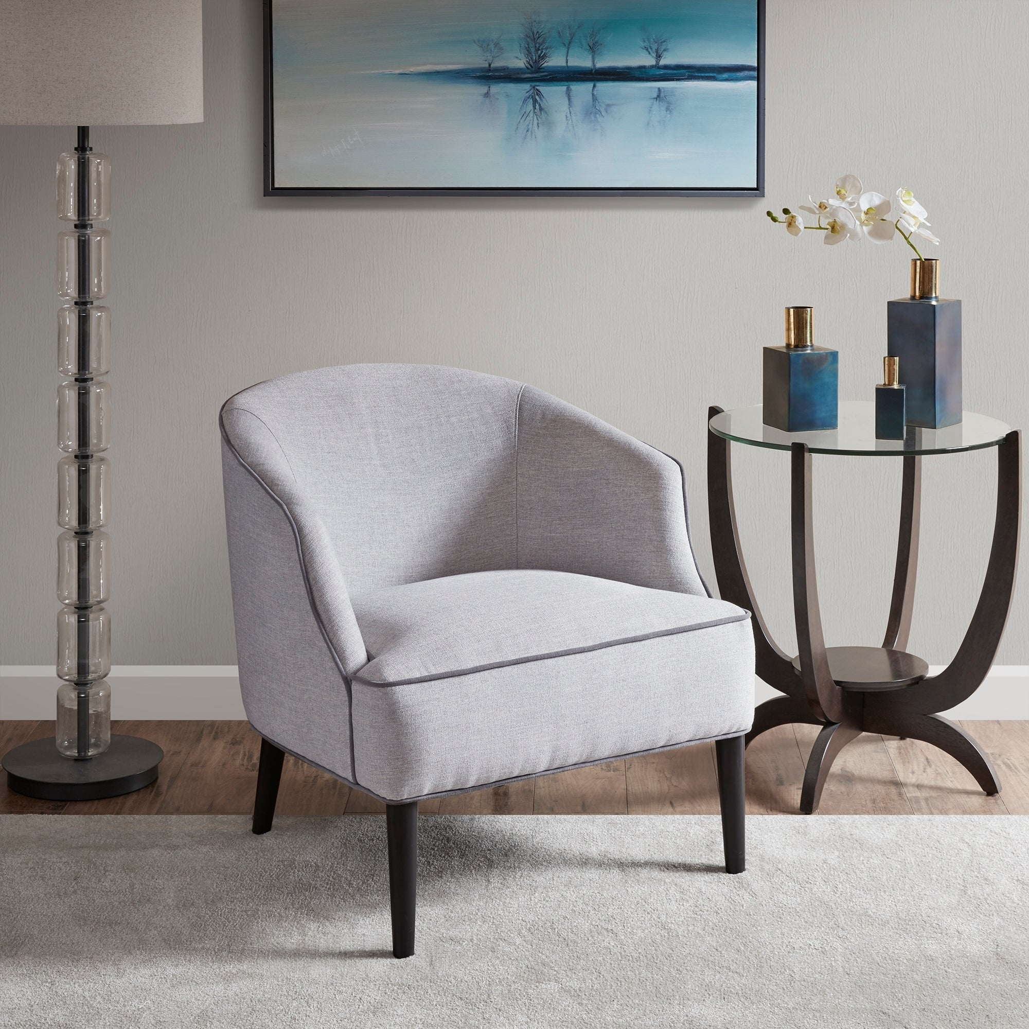 Shop madison park signature rayel silver accent chair 29 75w x 32d x 30 75h free shipping today overstock com 26172826