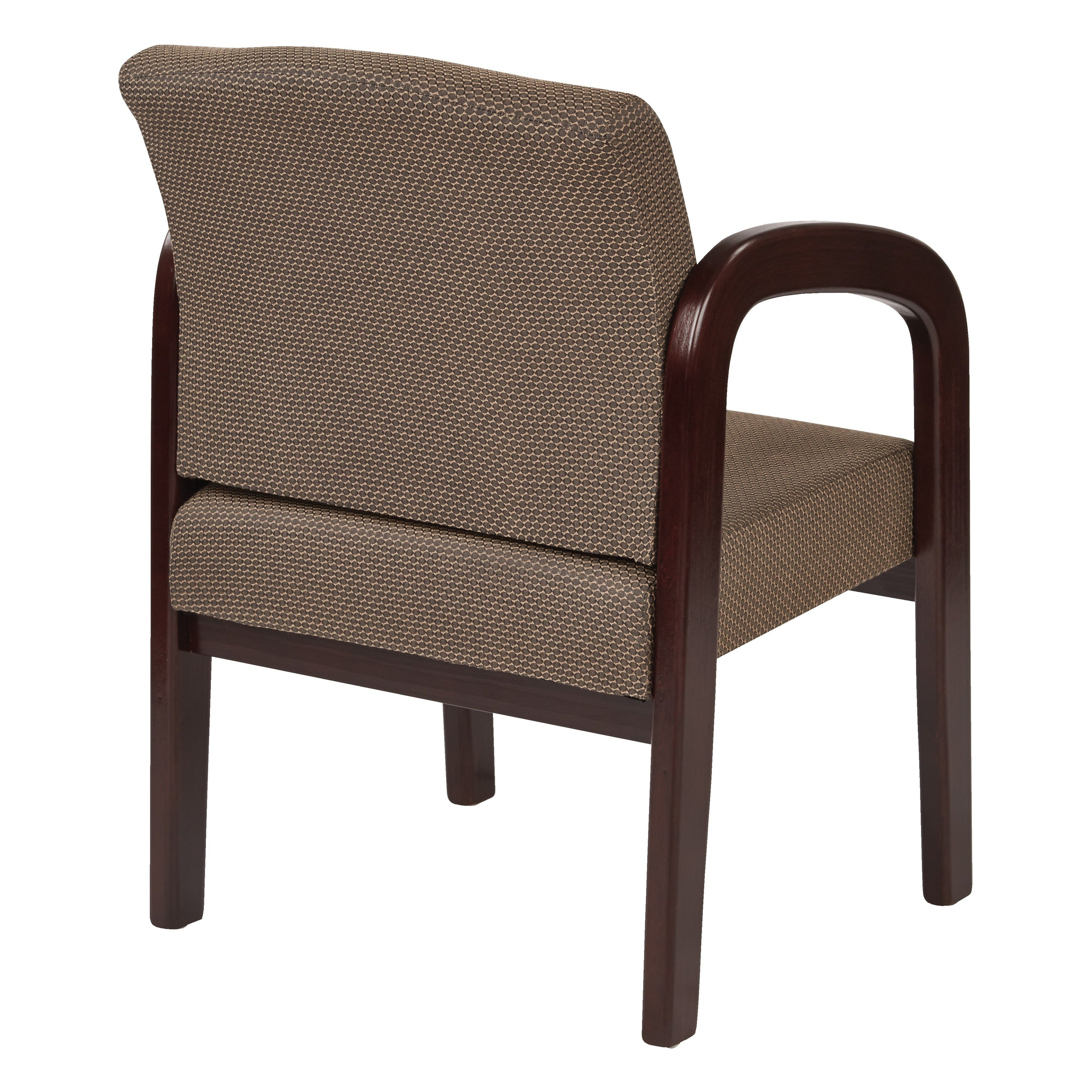 Shop office star mahogany finish visitors chair free shipping today overstock com 2619666