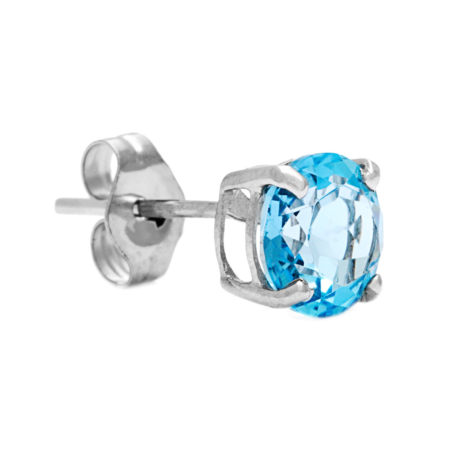 showroom wholesale women sterling blue stud earrings silver stone gemstone alibaba suppliers