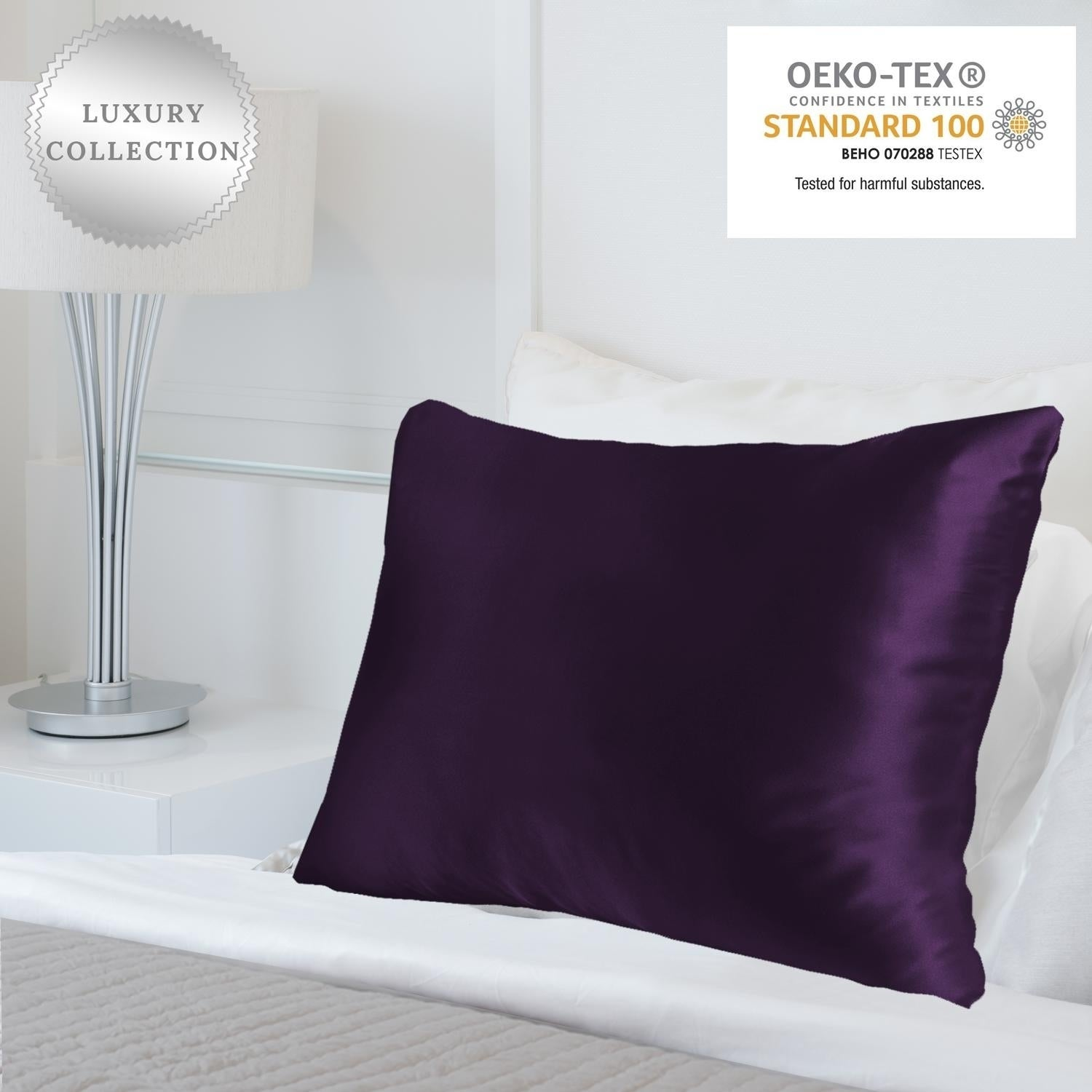 Shop Myk Pure 25 Momme Both Side Mulberry Silk Pillowcase Okeo Tex