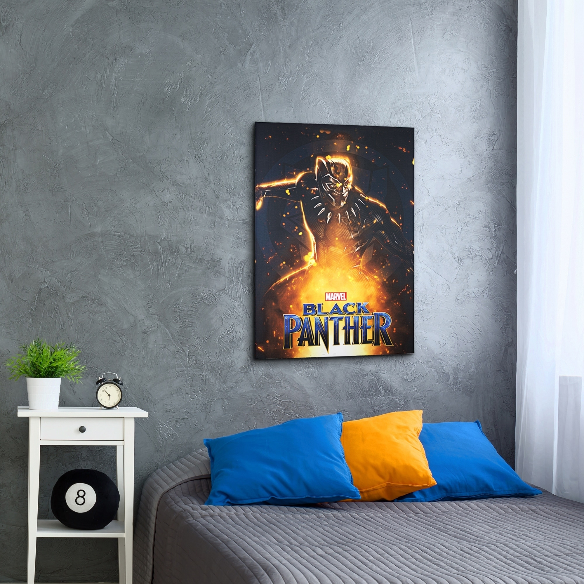 Shop American Art Decor Licensed Marvel Comics Black Panther Canvas Art Multi Color Free Shipping Today Overstock Com 26234433