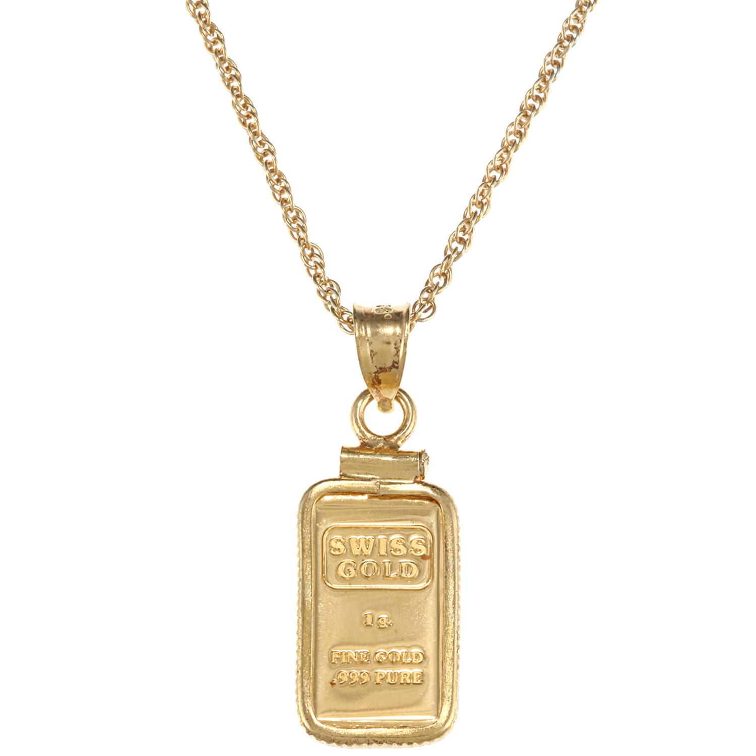 American coin treasures 1 gram gold ingot pendant necklace free american coin treasures 1 gram gold ingot pendant necklace free shipping today overstock 10828854 mozeypictures Choice Image