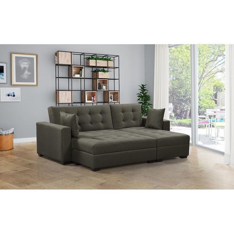 Shop BroyerK 3 pc Reversible Sectional Sleeper Sofa Bed - Free ...