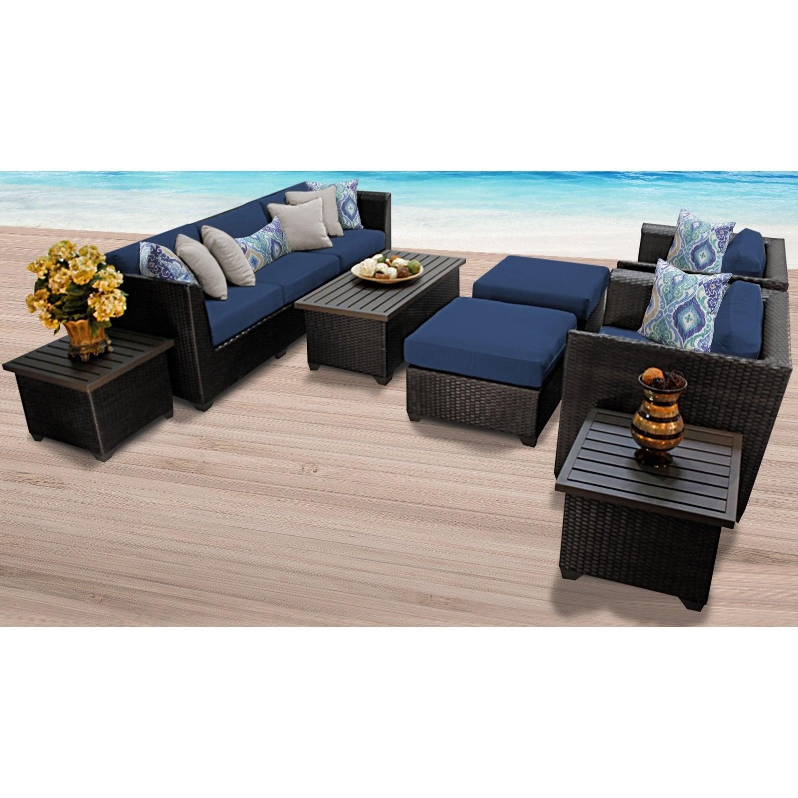 Barbados 10 Piece Outdoor Wicker Patio Furniture Set 10c