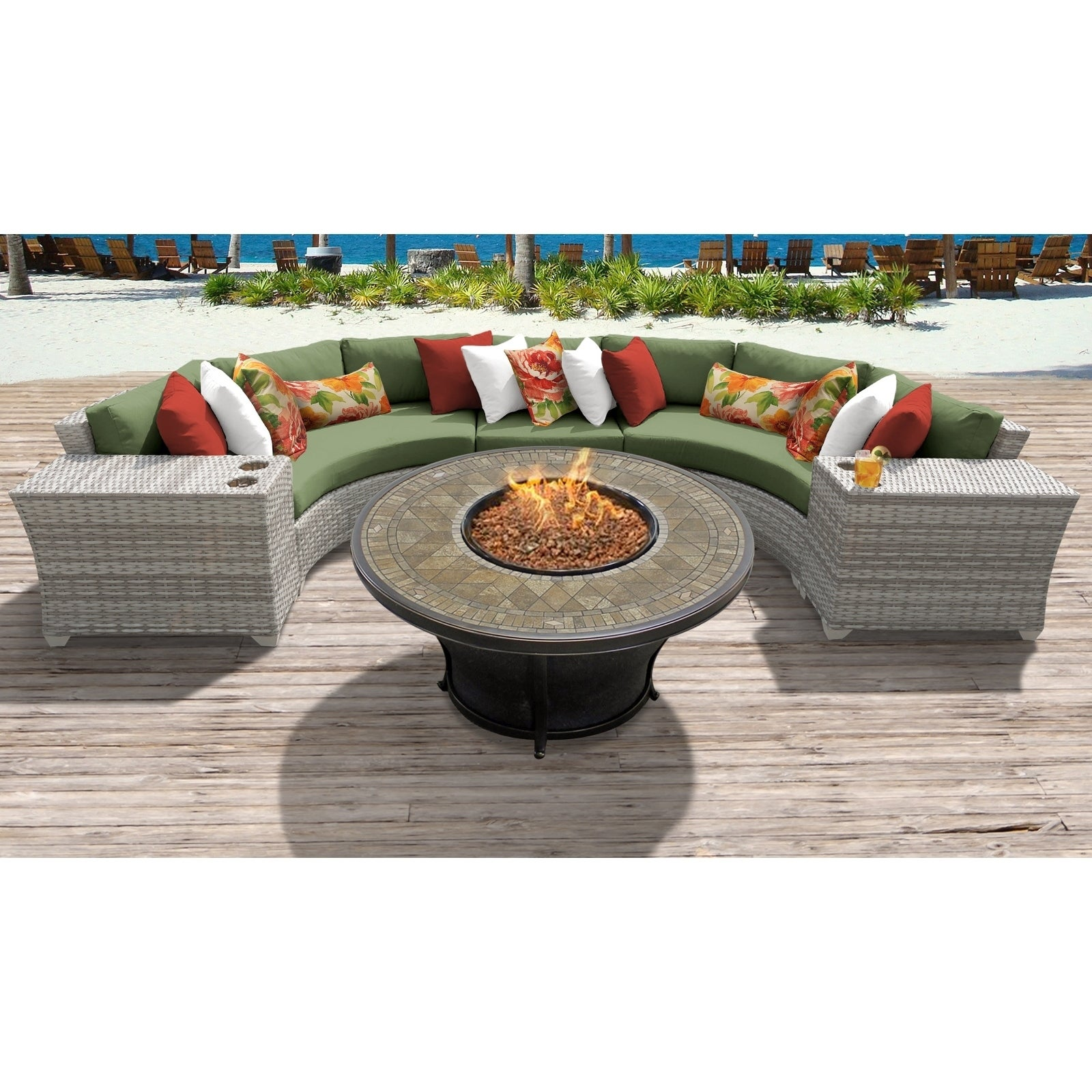 Fairmont 6 Piece Outdoor Wicker Patio Furniture Set 06a Free Shipping Today 26274051