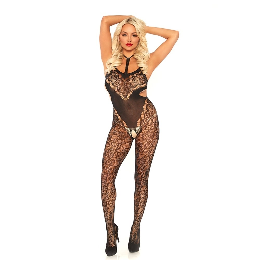 e39bc7ee0 Shop Halter Lace Bodystocking - Free Shipping On Orders Over  45 -  Overstock - 26276010