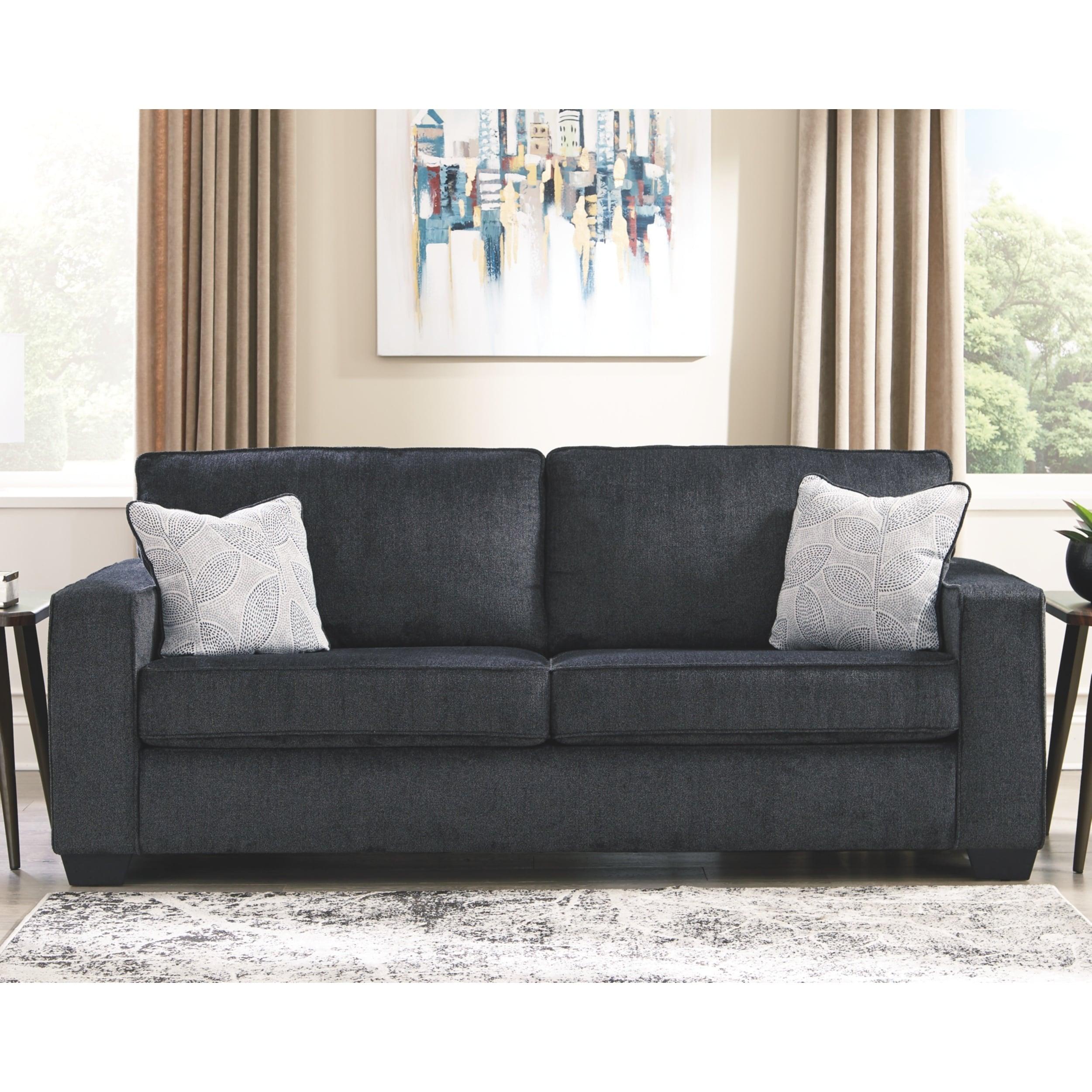 Signature Design by Ashley Altari Slate Grey Plush Chenille Sofa