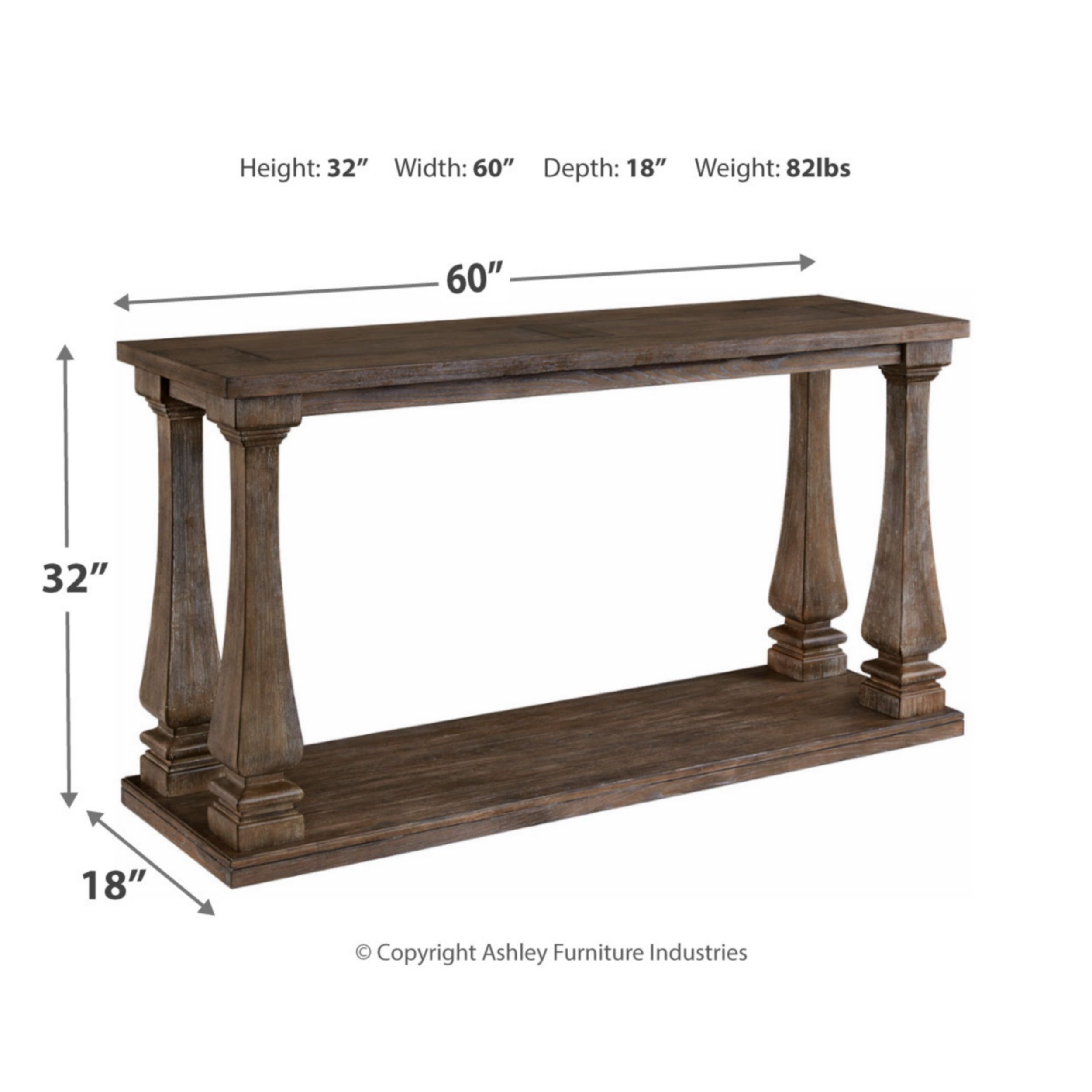 Johnelle Gray Sofa Table