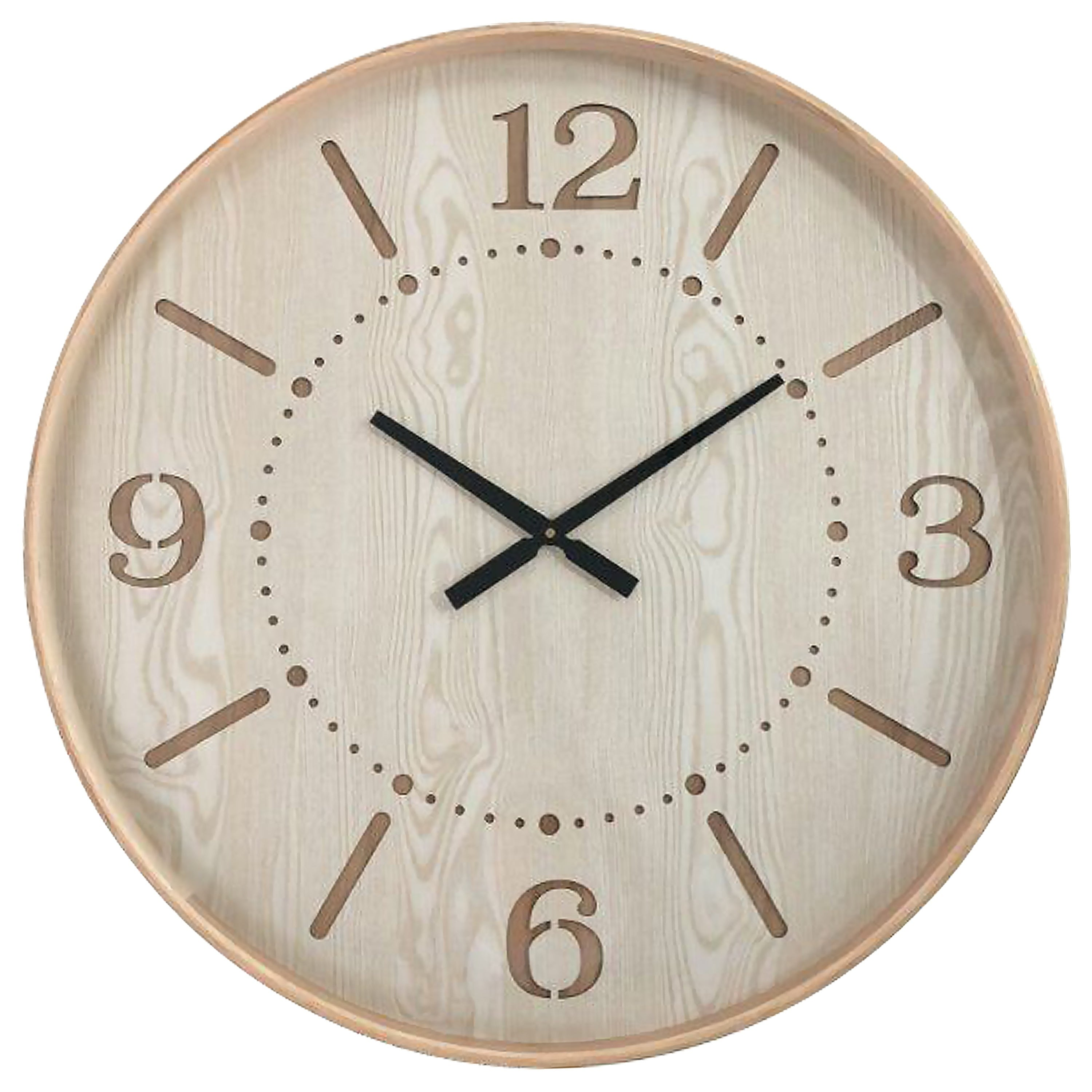Shop yosemite home decor contemporary chic i wood wall clock on sale free shipping today overstock 26283637