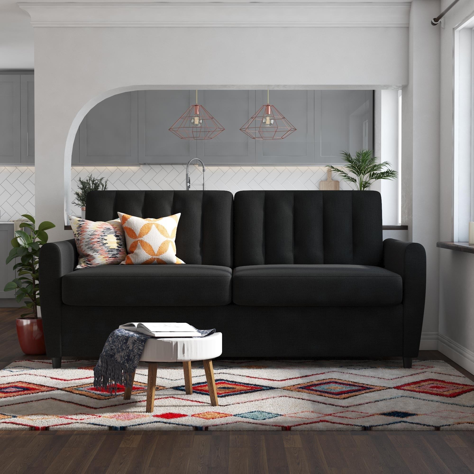 Shop Novogratz Brittany Certipur Us Memory Foam Queen Sleeper Sofa