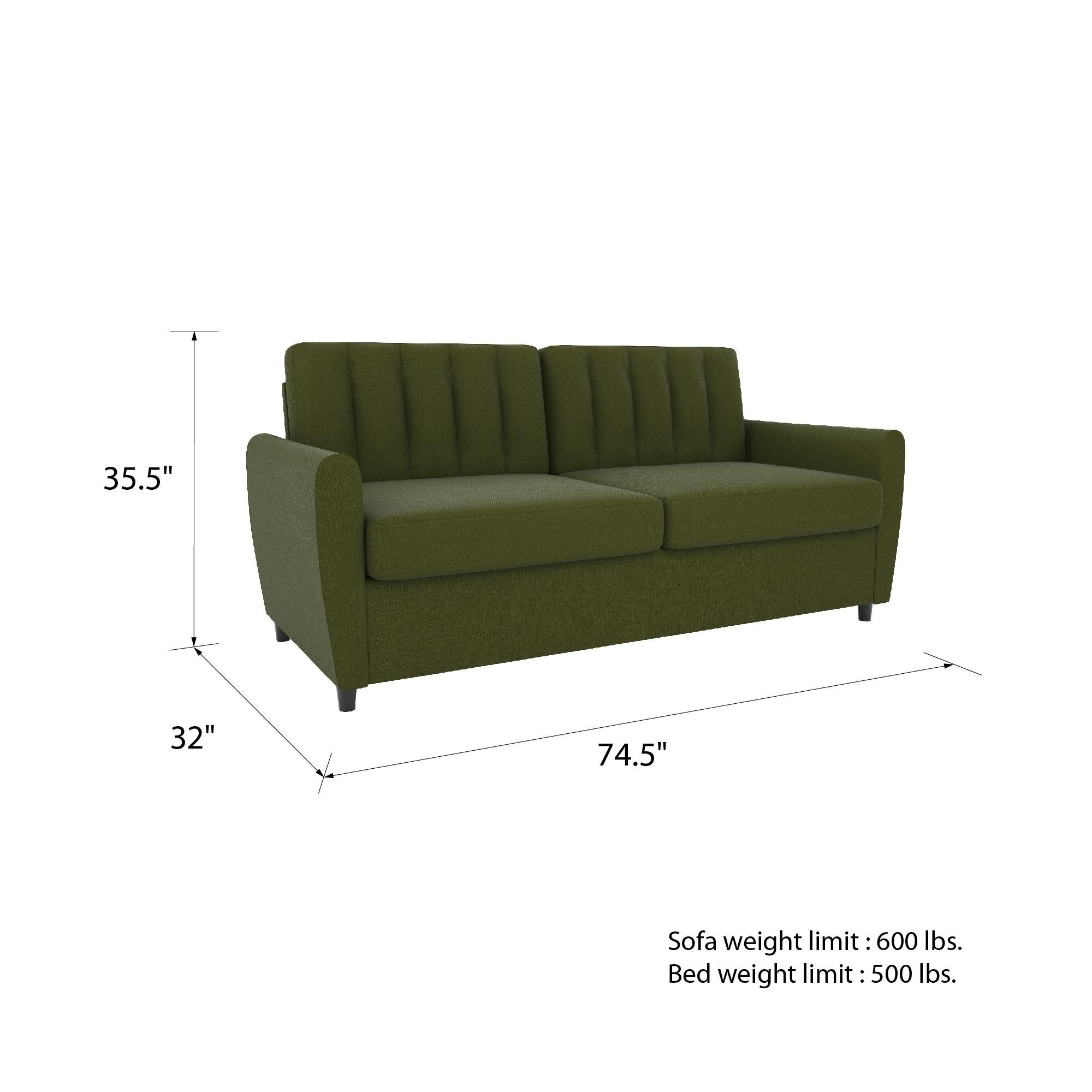 Novogratz Brittany Certipur Us Memory Foam Queen Sleeper Sofa On Free Shipping Today 26299574