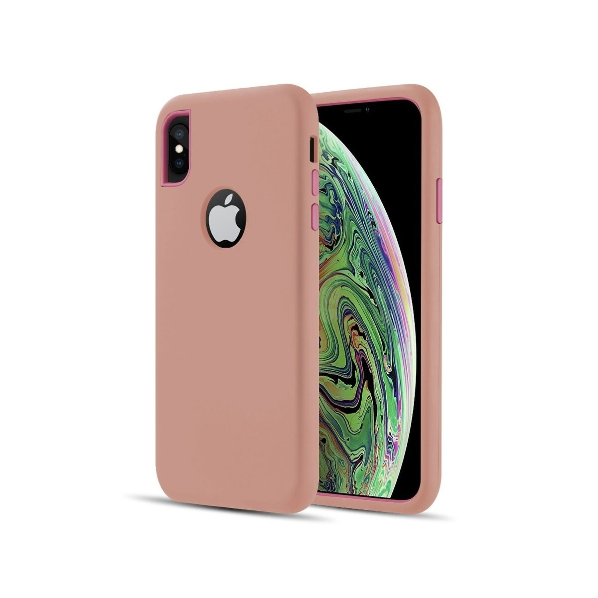 Shop Insten For Apple Iphone Xs Max Rose Gold Pink Hard Hybrid