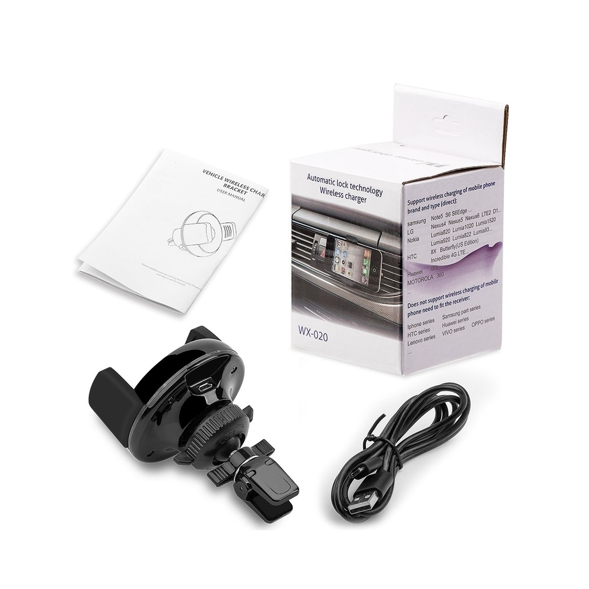Insten Wireless Charging Qi Air Vent Car Mount Holder For For Samsung  Galaxy S6