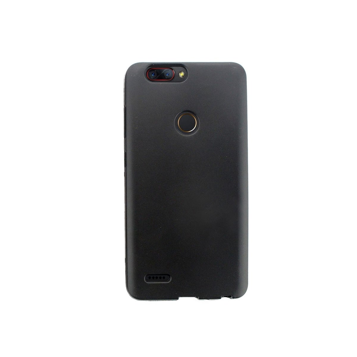 Insten For ZTE Zmax Pro 2 TPU Rubber Candy Skin Shell Back Gel Case Cover  Black