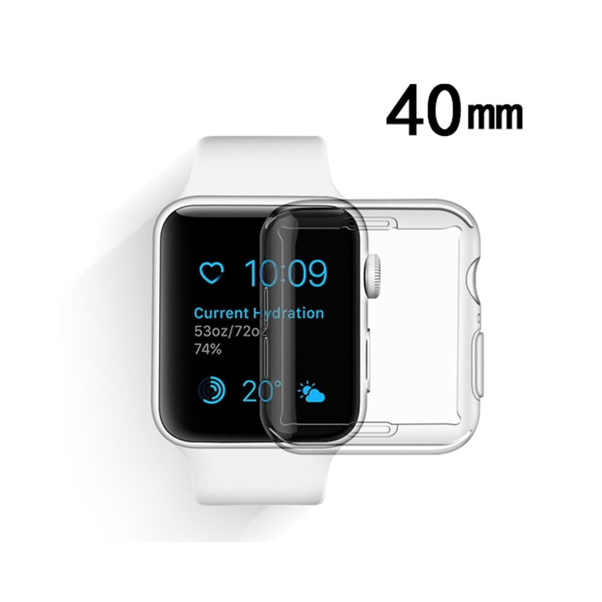 quality design 10b31 dee14 Insten For Apple Watch Series 4 40mm Clear TPU Rubber Candy Skin Case Cover