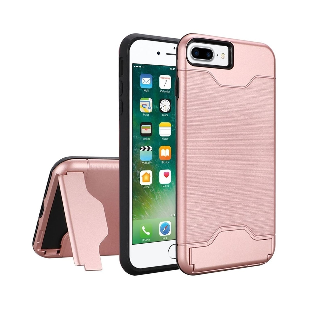 Shop Insten For Apple Iphone 7 Plus 8 Plus Rose Gold Hard Brushed