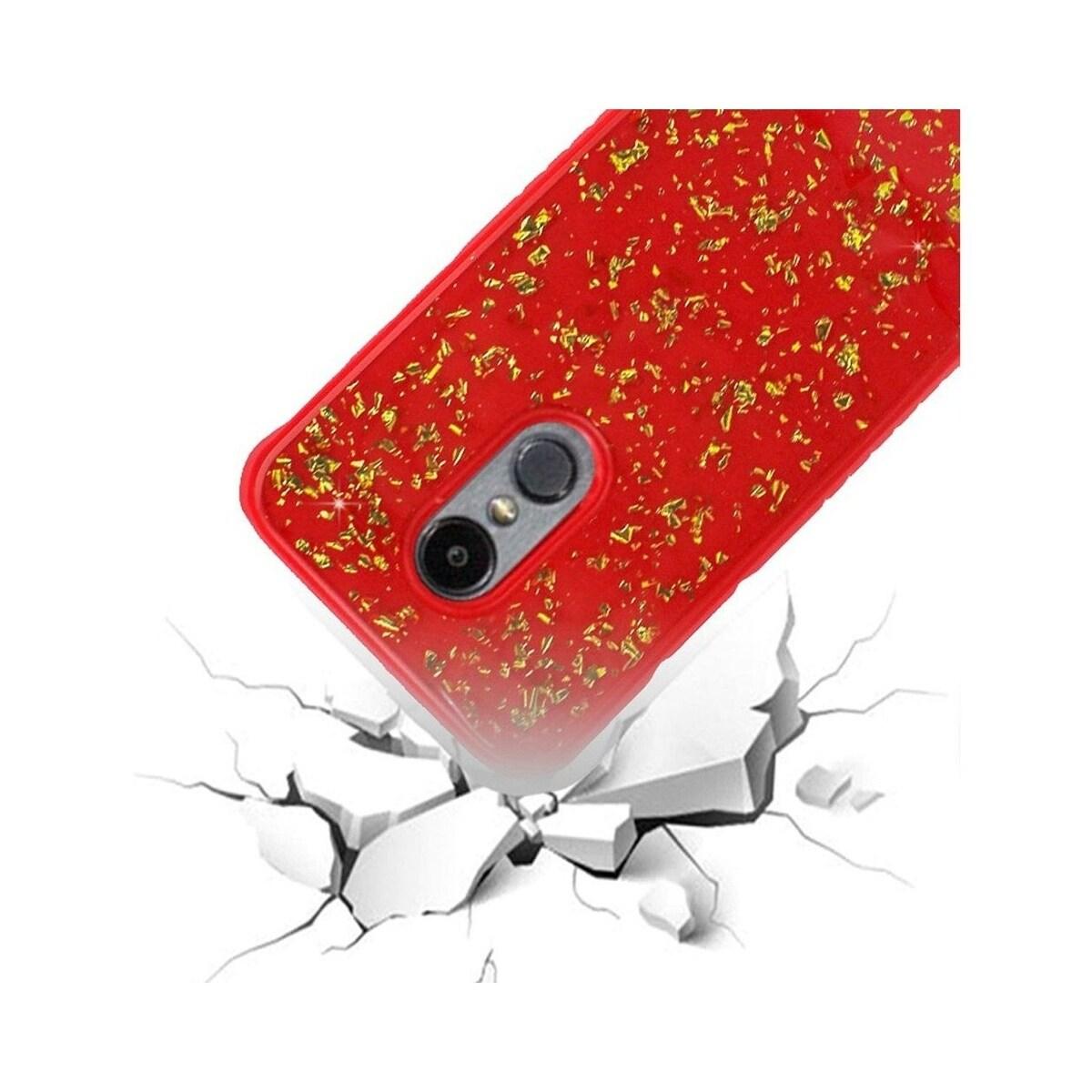 Insten For LG Aristo 2/Fortune 2/Tribute Dynasty Red Hard Hybrid Case Cover