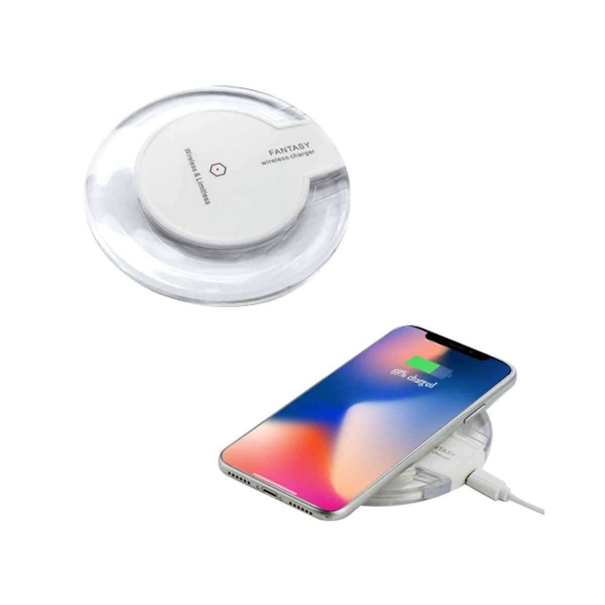 sneakers for cheap 6ec96 3763c Insten Qi Wireless Power Charging Pad for iPhone XS Max 8 Plus/ Samsung  Galaxy S9 Note 8 and all Qi-Enabled Devices, Clear White
