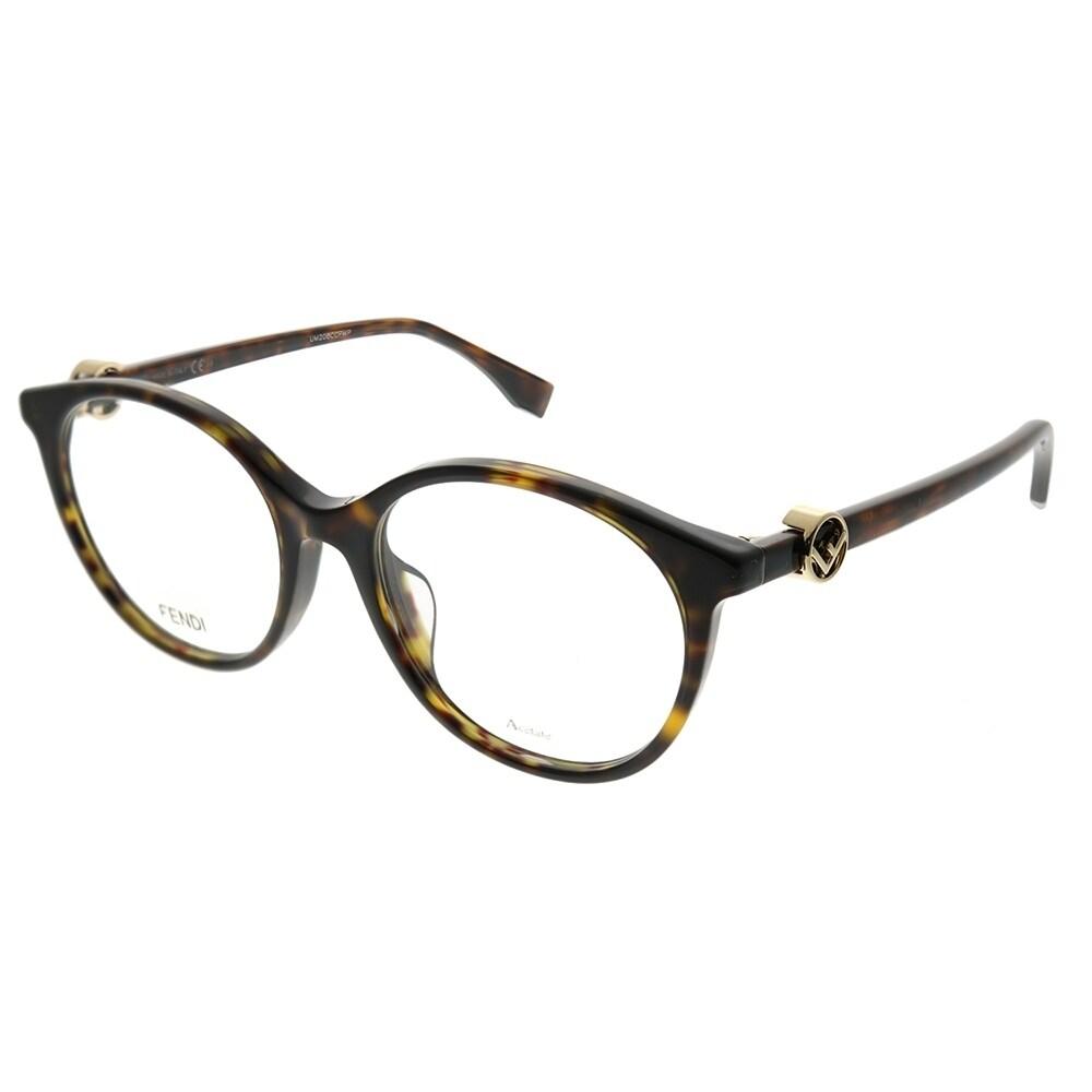 ef6945792b3 Fendi Round FF 0336 F F Is Fendi Asian Fit 086 Women Dark Havana Frame  Eyeglasses