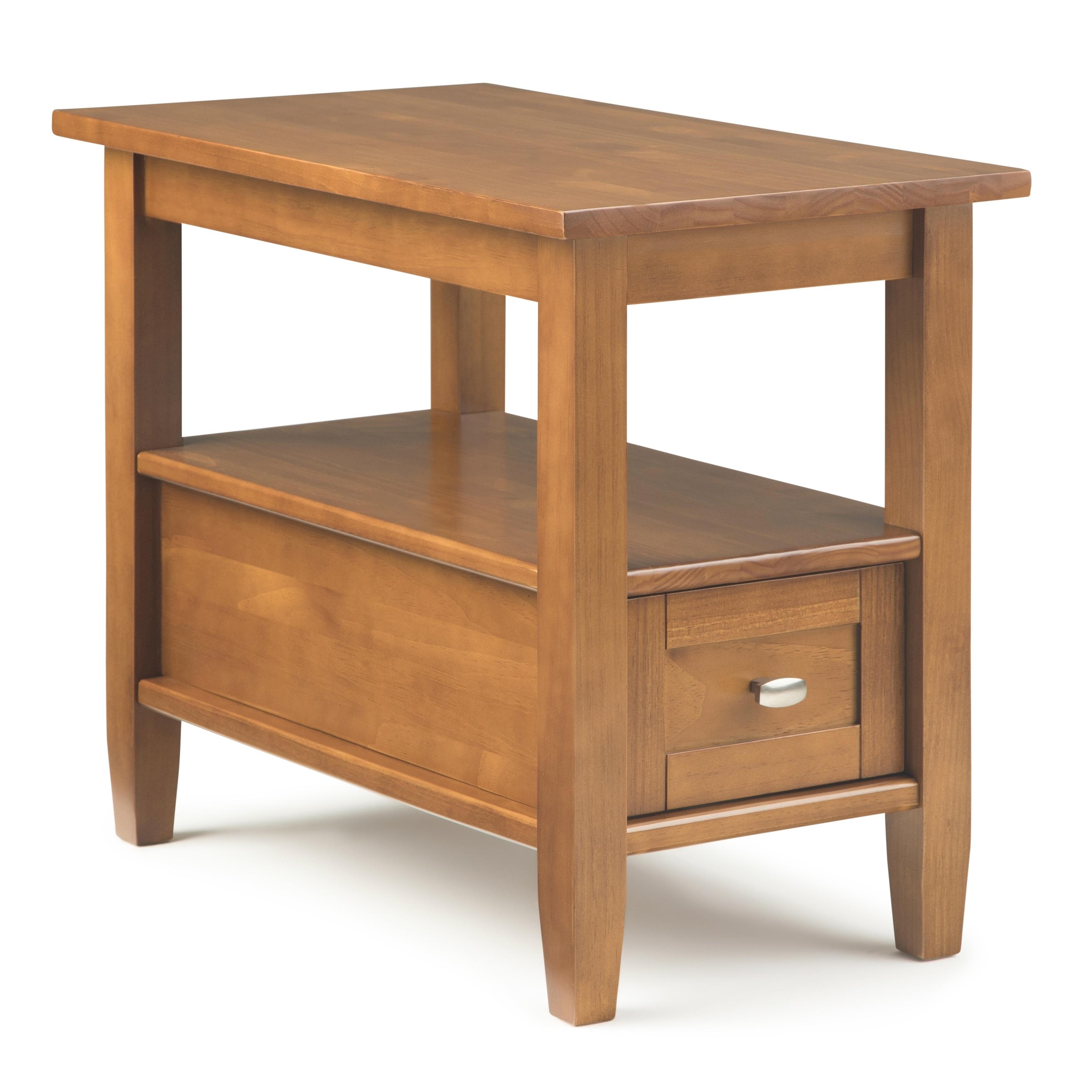 Wyndenhall warm shaker narrow side table