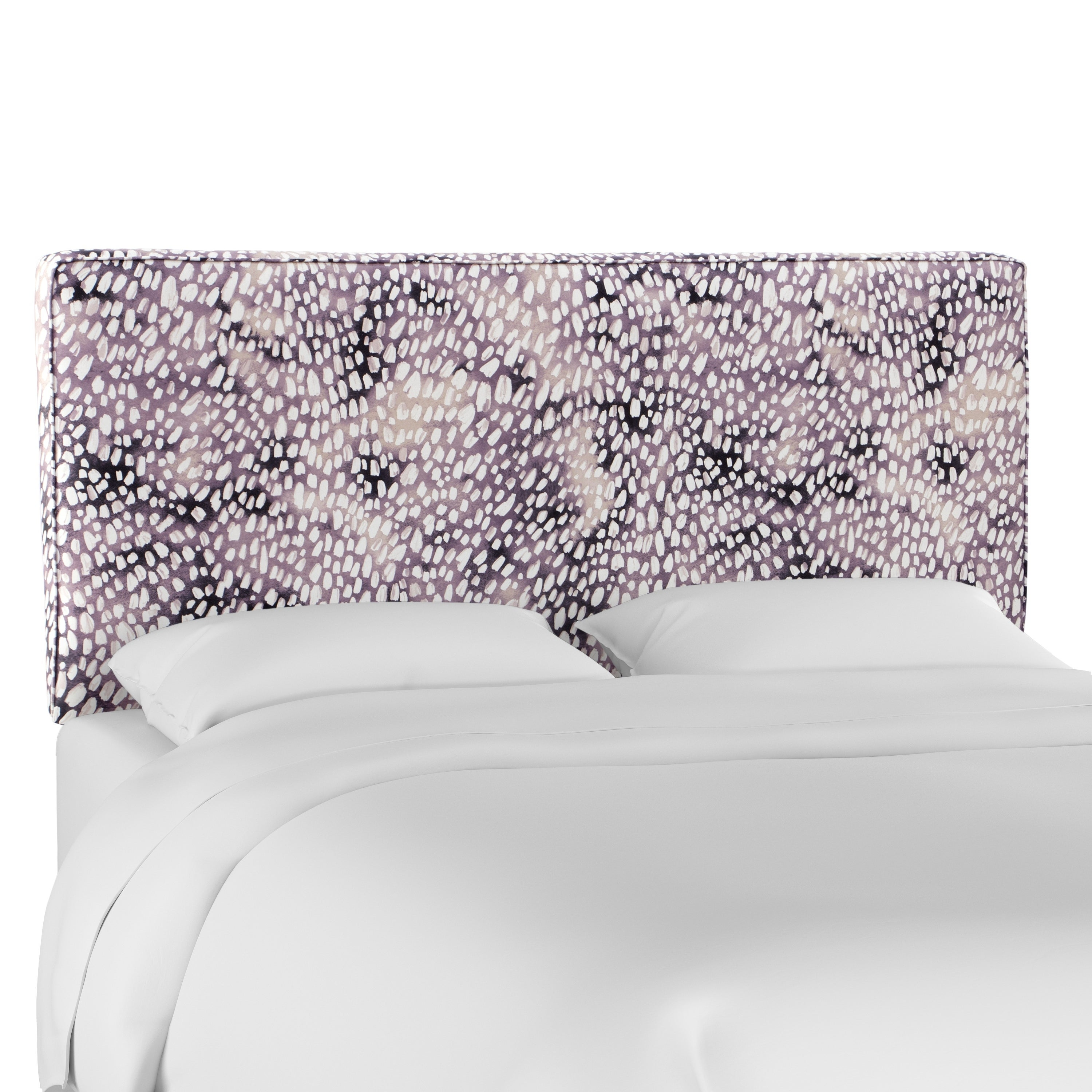 Shop skyline furniture box seam headboard in aqua dot lavender free shipping today overstock com 26414950