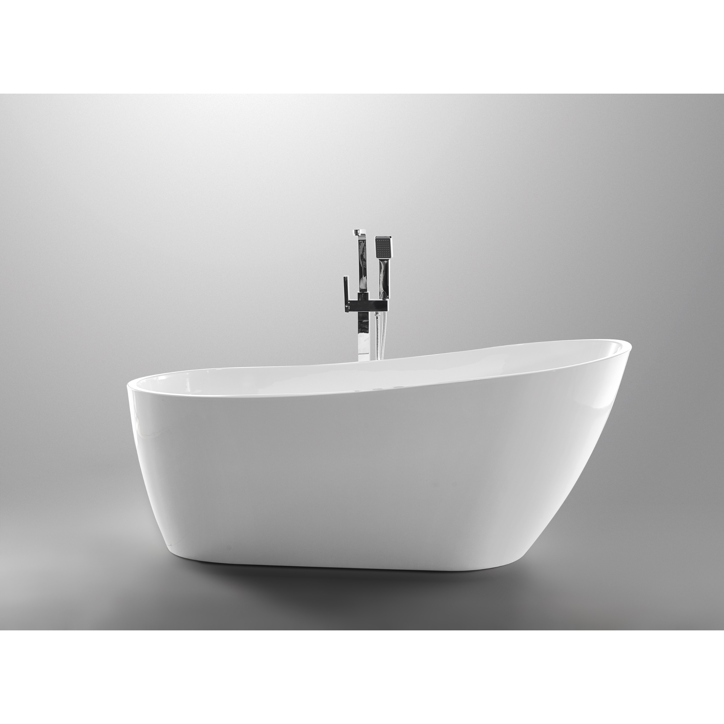 Shop Vanity Art 55 Inch Freestanding Acrylic Soaking Bathtub Free