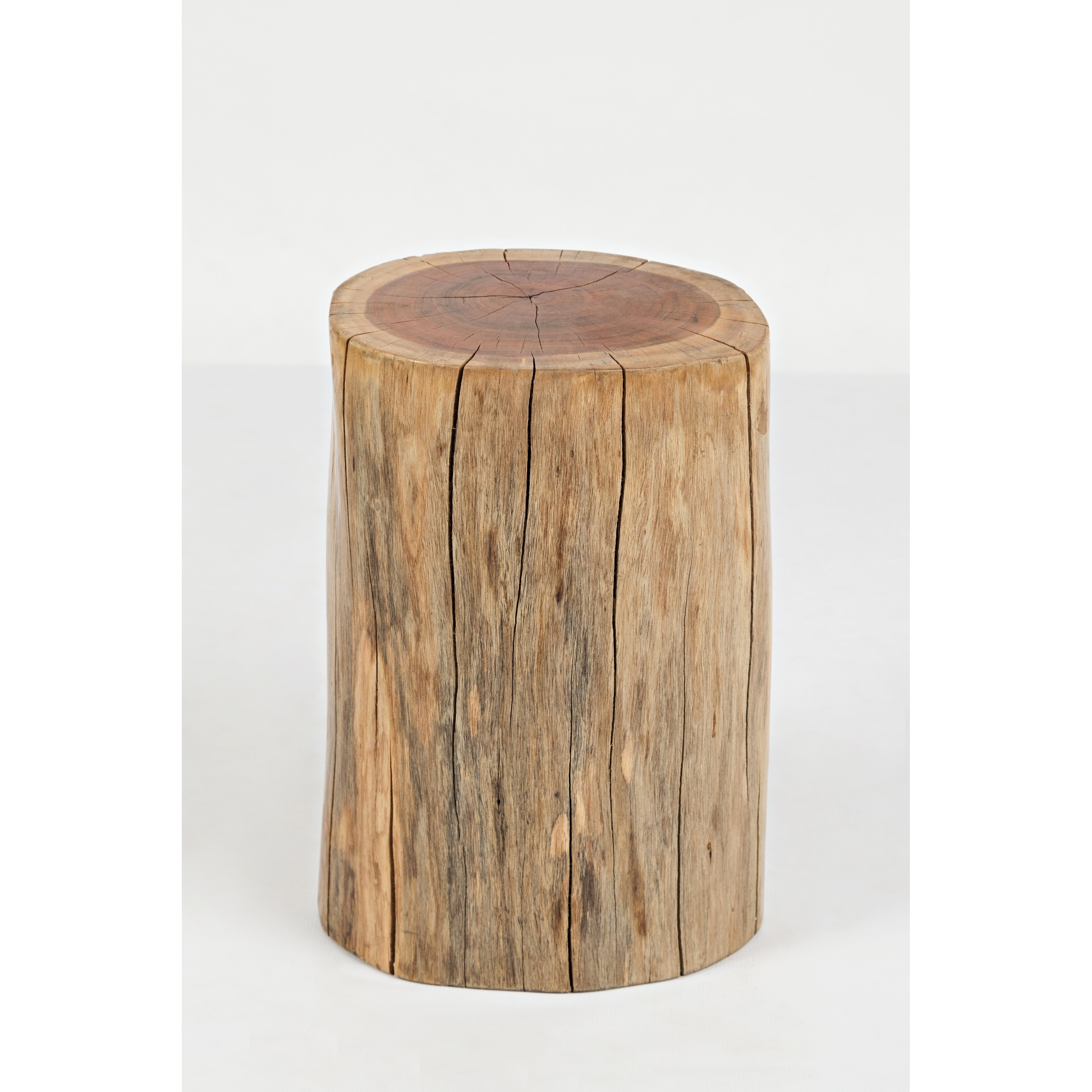 Picture of: Shop Round Wooden Stump Accent Table Natural Brown Free Shipping Today Overstock 26449490