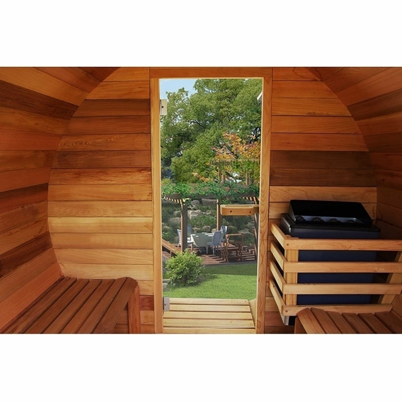 Aleko Pine Wood Indoor Outdoor Wet Dry Barrel Sauna 5 Person With Heater On Free Shipping Today 26483681