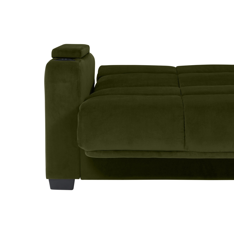 Shop Handy Living Sophia Storage Arm Convert-a-Couch Sleeper Sofa ...