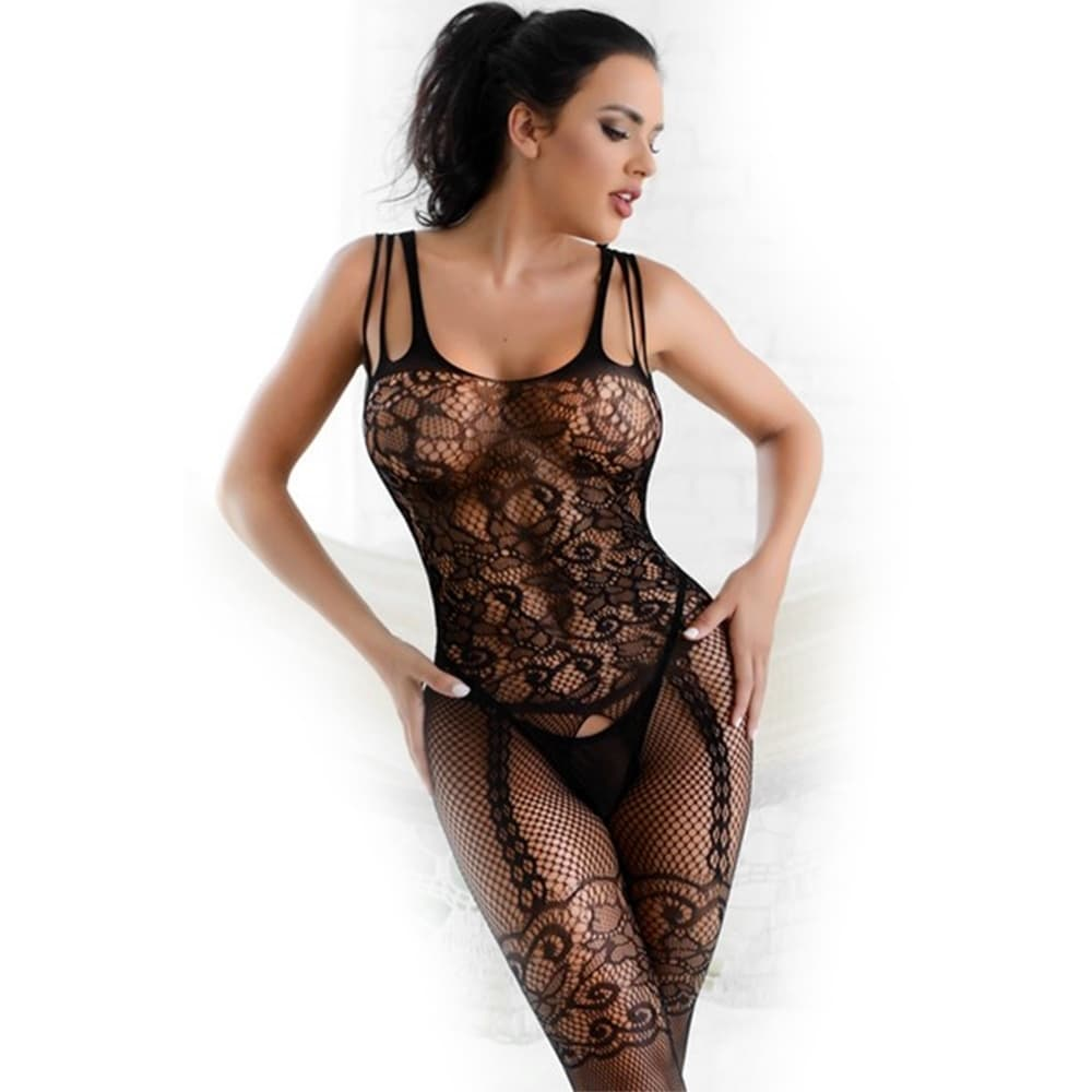 a3dfae5d3d4 Shop Lace Fishnet Open Bottom Bodystocking - Free Shipping On Orders Over   45 - Overstock - 26517484