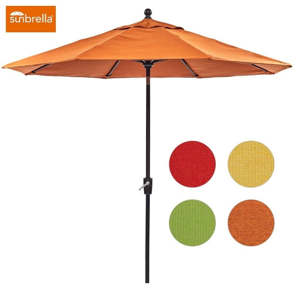 Dali Patio Umbrella 9 Ft Aluminum Market Outdoor Table Auto Tilt Crank