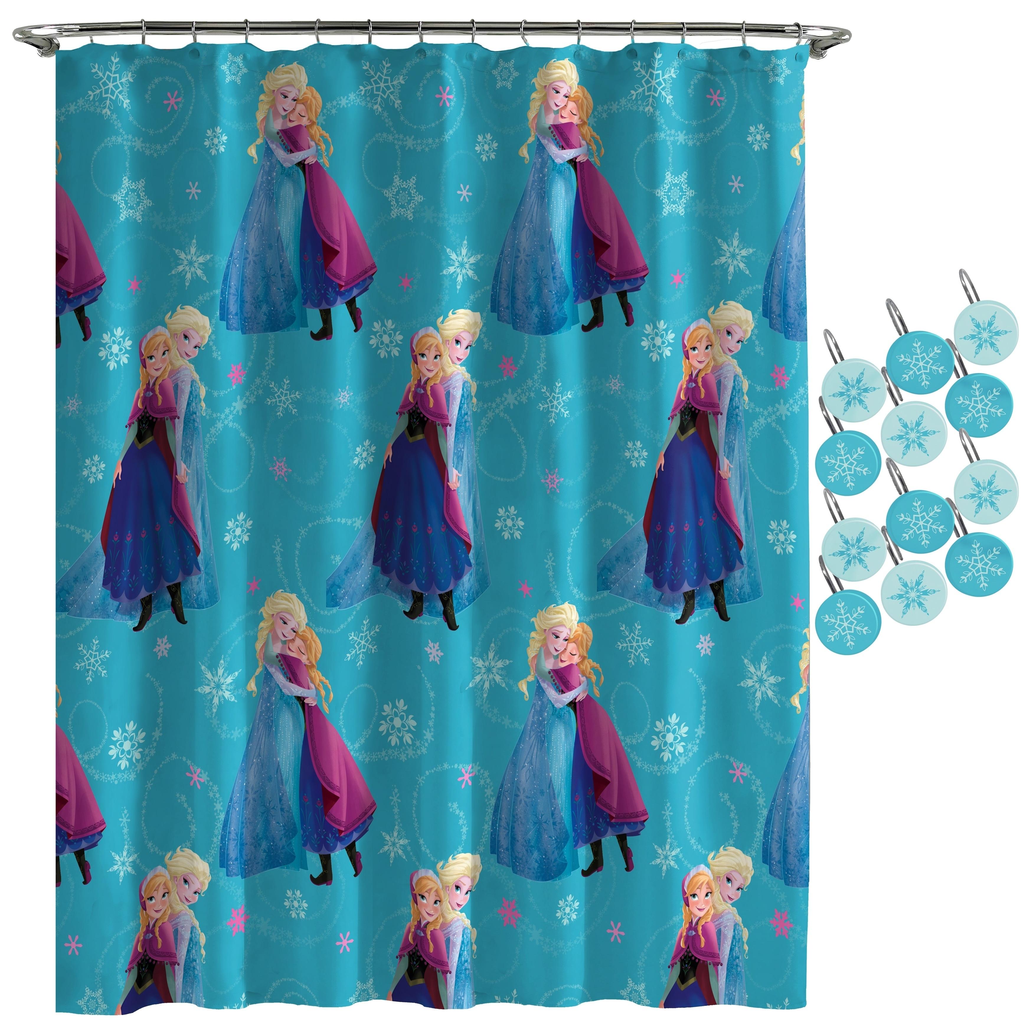 Shop Disney Frozen Swirl Shower Curtain And Hooks