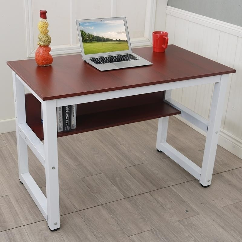 Porch U0026 Den Catalina Office/ Study Table Computer Desk With Bookshelf