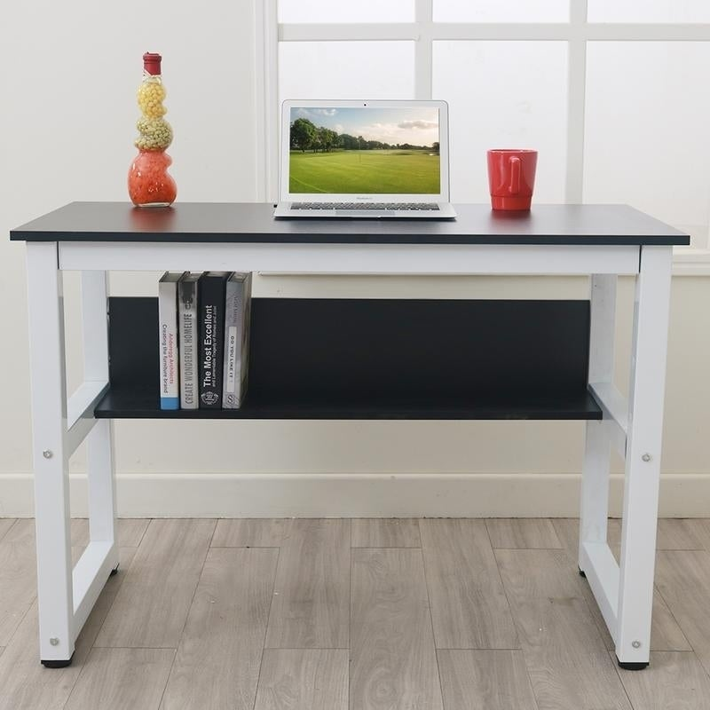 411c6b312fe Shop Porch   Den Catalina Office  Study Table Computer Desk with Bookshelf  - On Sale - Free Shipping Today - Overstock - 26566795