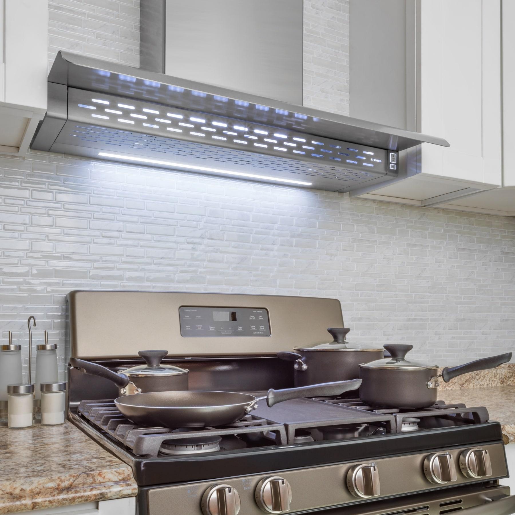 shop akdy 30 wall mount kitchen range hood 3 speed touch control rh overstock ca