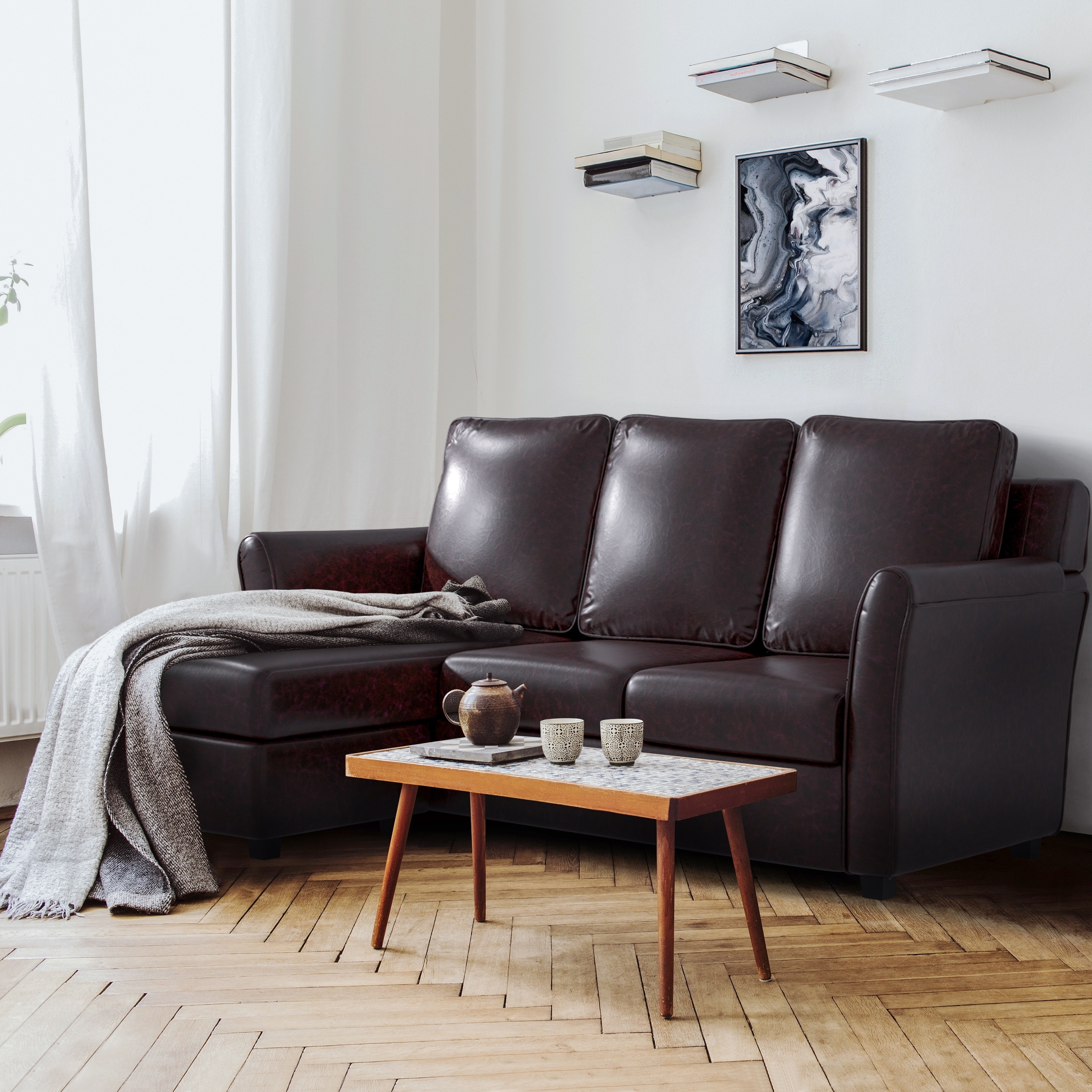 Furniture Of America Burton Modern L Shaped Sectional